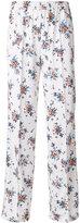 MSGM floral print wide leg trousers - women - Polyamide/Polyester - 40