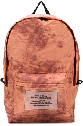 Diesel Packable Tie-Dye Print Backpack