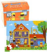 Crocodile Creek Little Builder Double Fun 48 piece Jigsaw Puzzle in Tool Box Shaped