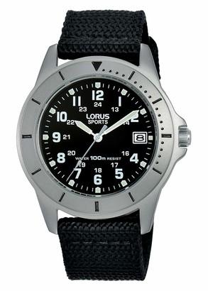 Lorus Womens Analogue Quartz Watch with Nylon Strap RS935DX9