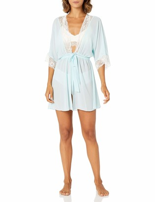 Cinema Etoile Women's Danielle Soft Cup Pleated Chiffon Babydoll and Robe Set