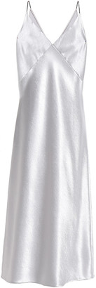 Vince Satin-crepe Midi Slip Dress