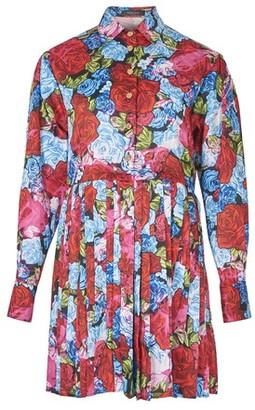 Versace Floral print shirt dress