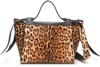 Elena Ghisellini Usonia Leopard-print Calf Hair Tote
