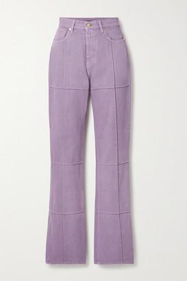Jacquemus Organic High-rise Straight-leg Jeans - Lilac