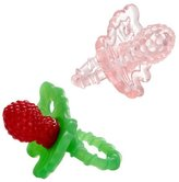 Razbaby RaZberry Teether - Light Pink/Red 2-Pack by