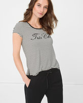 White House Black Market Tres Chic Tee