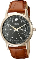 Citizen AO9003-08E Eco-Drive Rose Gold Tone Day-Date Watch Analog Watches