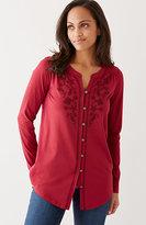 J. Jill Embroidered Shirttail Tunic