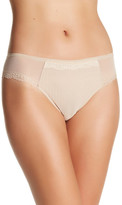 Chantelle Mesh & Lace Trim Thong Underwear