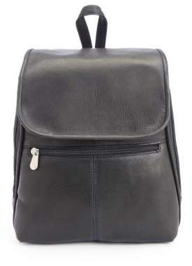 ROYCE New York New York Leather Tablet Travel Backpack