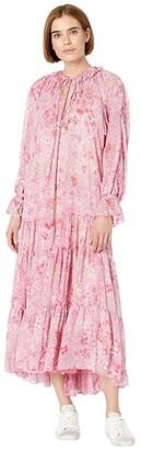 Free People Feeling Groovy Maxi (Summertime Pink) Women's Dress