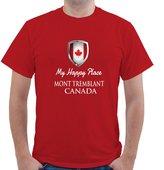 Shirt Mania MY HAPPY PLACE CANADA MONT TREMBLANT Unisex Short Sleeve T Shirt