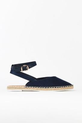 Wallis **Navy Strappy Espadrille Sandal