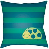 Surya Lady Bug Toss Pillow