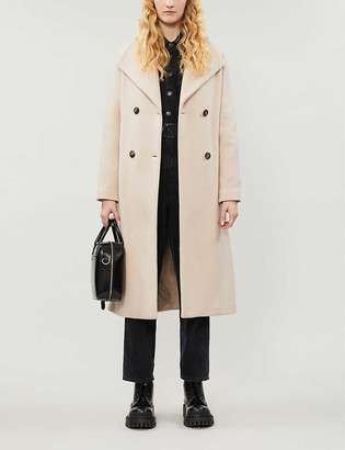 Pinko Ideal waterfall-lapel wool-blend coat