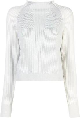 Proenza Schouler Mock Neck Raglan Cropped Sweater