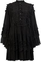 Faith Connexion tiered ruffle trim dress - women - Cotton/Polyamide/Viscose - XS