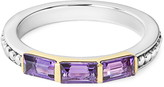 Lagos Gemstone Baguette Stackable Ring