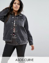 Asos Washed Black Girlfriend Jacket