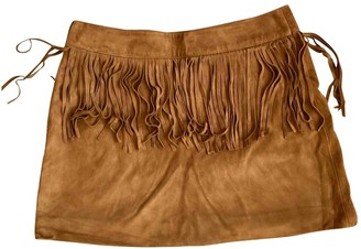 Saint Laurent Camel Suede Skirts