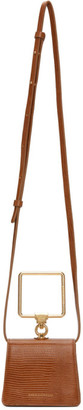 Marge Sherwood Brown Lizard Mini Pump Handle Bag