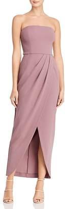 WAYF Angelique Strapless Tulip-Hem Dress