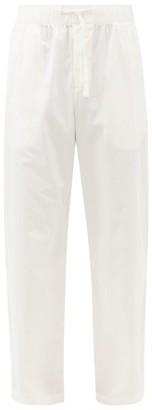 Tekla - Elasticated-waist Organic-cotton Pyjama Trousers - Cream