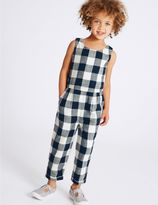 Marks and Spencer Pure Cotton Checked Jumpsuit (3 Months - 5 Years)