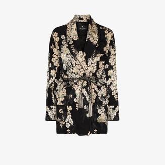 Etro Floral Jacquard Kimono Jacket