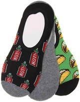 K. Bell Men's Taco Men's No Show Liners - 3 Pack