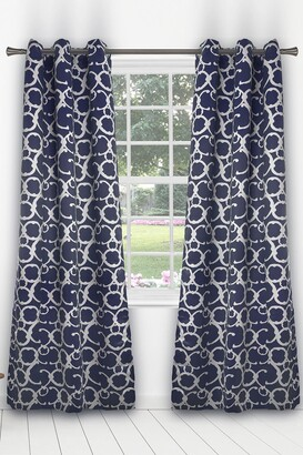 Duck River Textile Rhys Blackout Grommet Panel Curtains - Set of 2 - Indigo