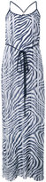 MICHAEL Michael Kors zebra print pleated maxi dress - women - Polyester - 0