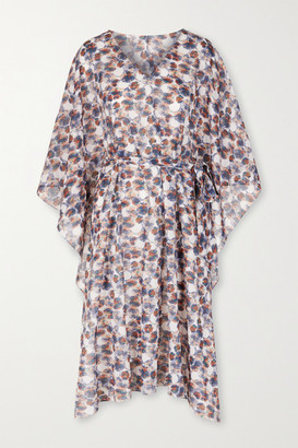 Marysia Swim Yucca Belted Printed Cotton-gauze Kaftan - Ivory