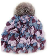 Glamour Puss Glamourpuss Nyc Knitted Fur Pompom Hat