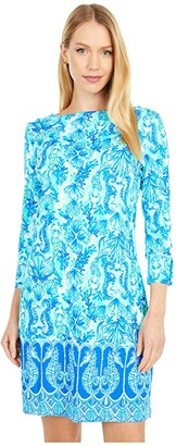 Lilly Pulitzer UPF 50+ Sophie Dress (Seaglass Aqua Seeing Double Engineered Knit) Women's Dress