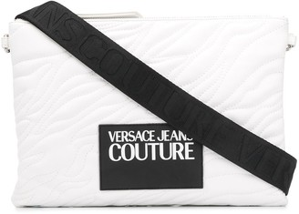 Versace Quilted Logo Clutch Bag