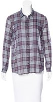 The Kooples Plaid Button-Up Top