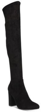 Wild Pair Bravy Over-The-Knee Stretch Boots, Created for Macy's Women's Shoes