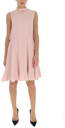 RED Valentino Gathered Ruffle Detail Dress