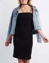 Charlotte Russe Ribbed Sleeveless Bodycon Dress