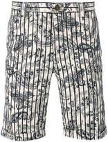 Incotex paisley stripe shorts