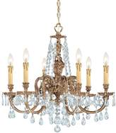 Crystorama Ornate Cast Brass Chandelier Accented with Swarovski Strass Crystal