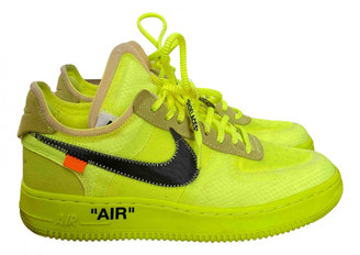 Nike x Off-White Air Force 1 Yellow Suede Trainers