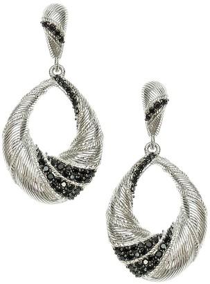 Judith Ripka Sterling Black Spinel Dangle Earrings
