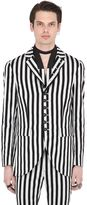 John Varvatos Striped Cotton Blend Jacket