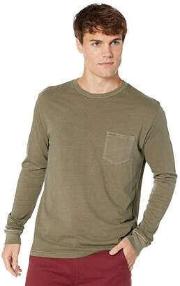 RVCA PTC Pigment Long Sleeve (Olive) Men's Clothing