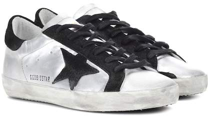 Golden Goose Superstar metallic leather sneakers
