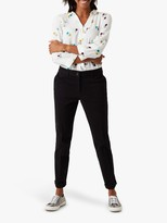White Stuff Sussex Cotton 7/8 Trousers, Black