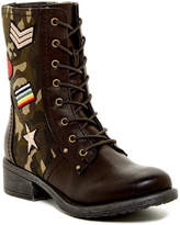 Mia Nate Patched Combat Boot
